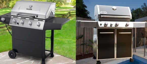 Weber grill & Charbroil grill review.
