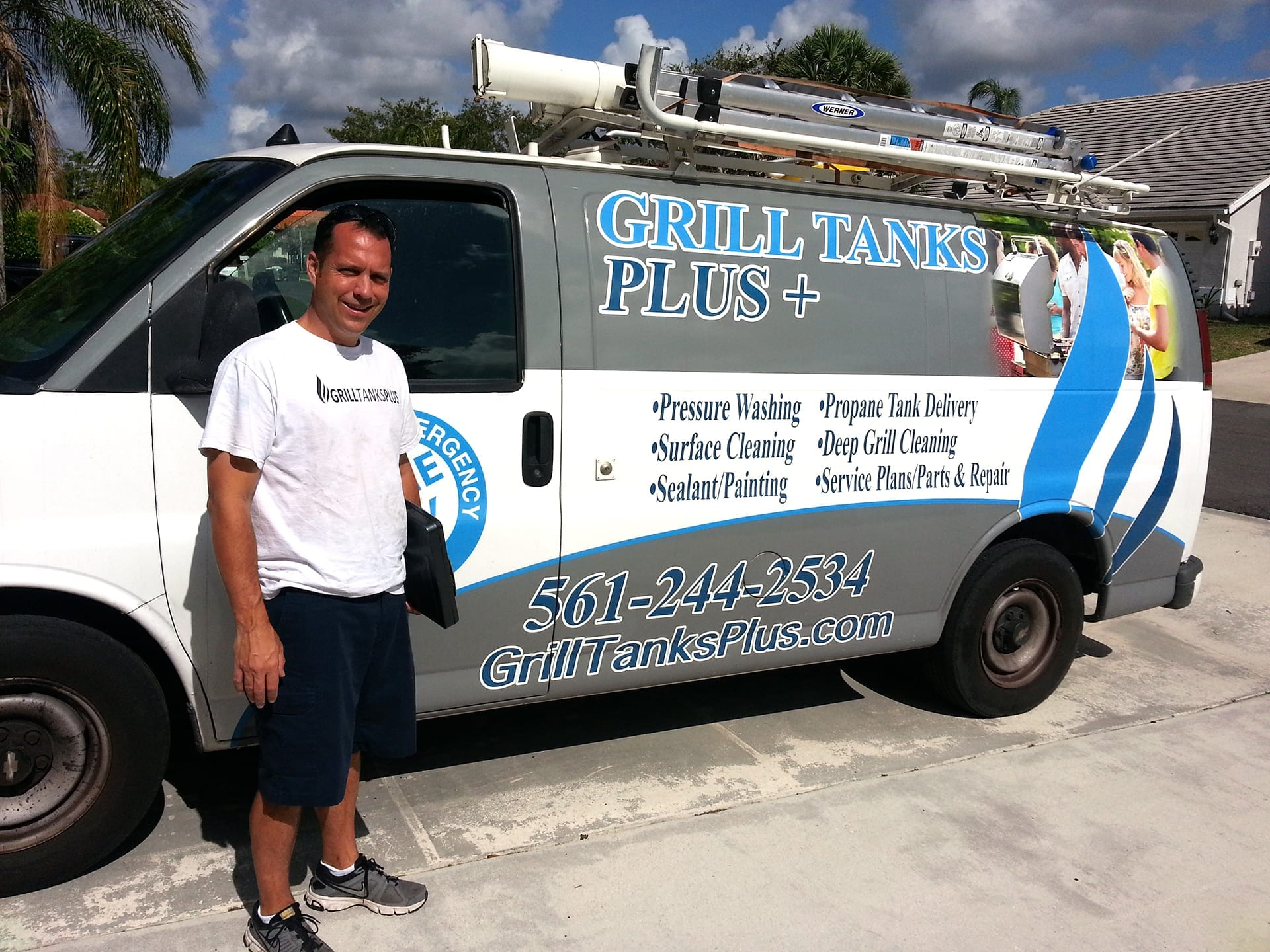 grill tanks plus service van