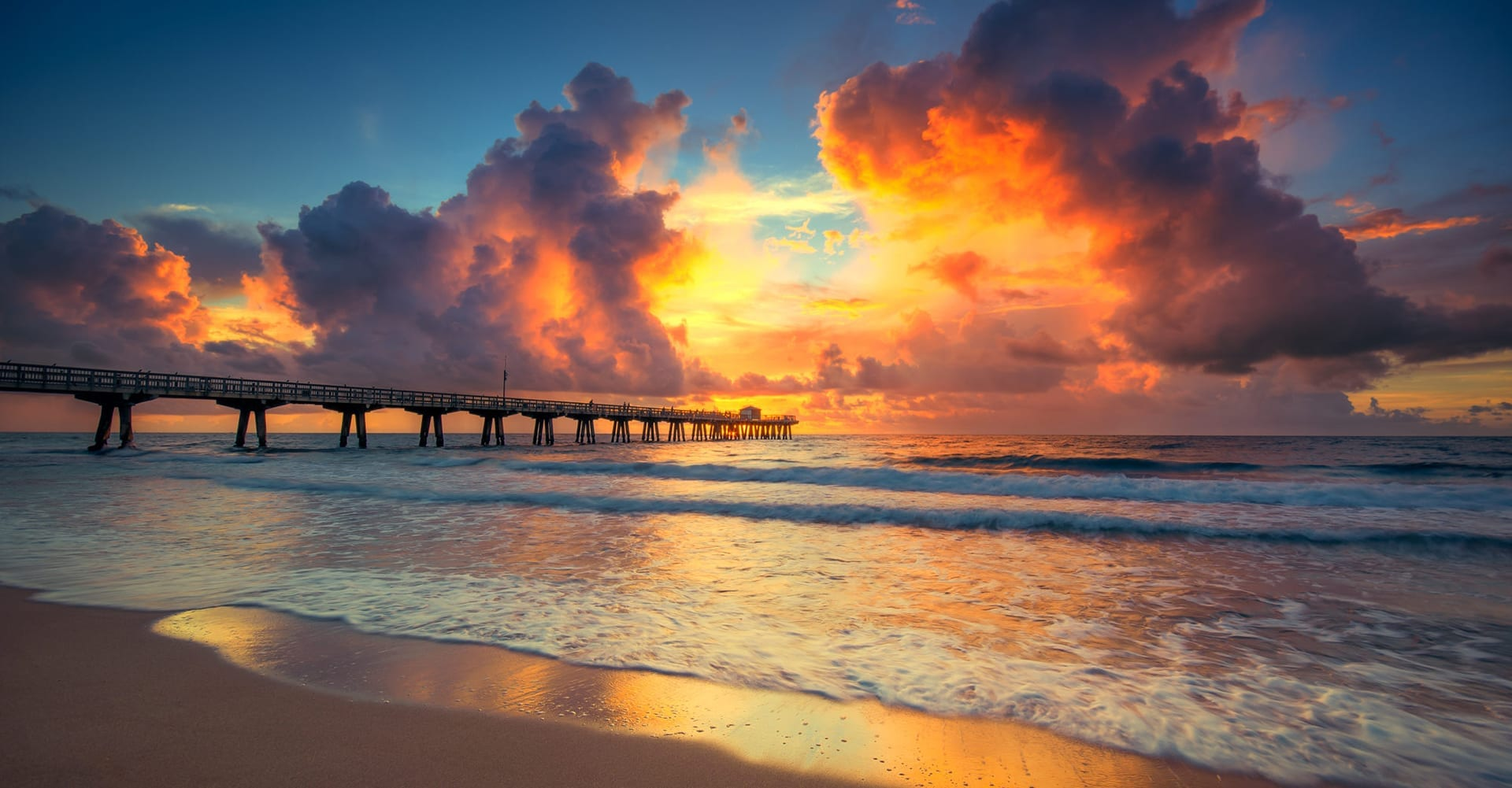 Sunrise Pompano Beach Pier Florida