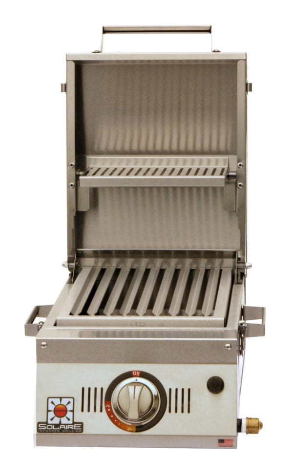 Solaire AllAbout Single Burner Portable Infrared Grill open