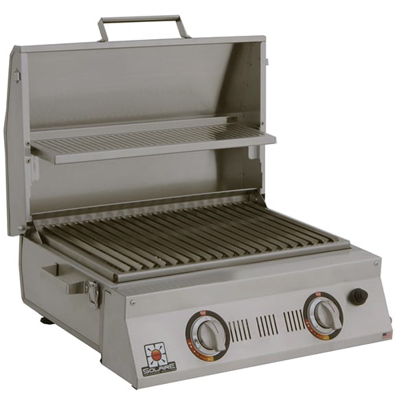 Solaire AllAbout Double Burner Portable Infrared Grill open