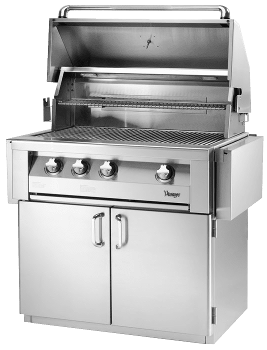 Vintage+3-Burner+Built-In+Convertible+Gas+Grill