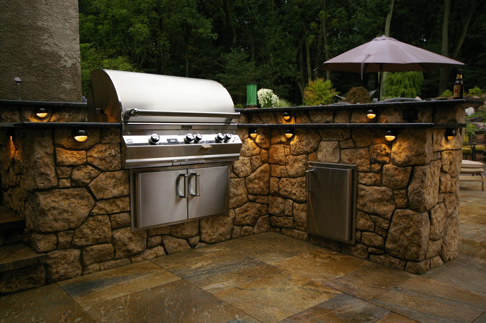 Image of an Outdoor Kitchen Install