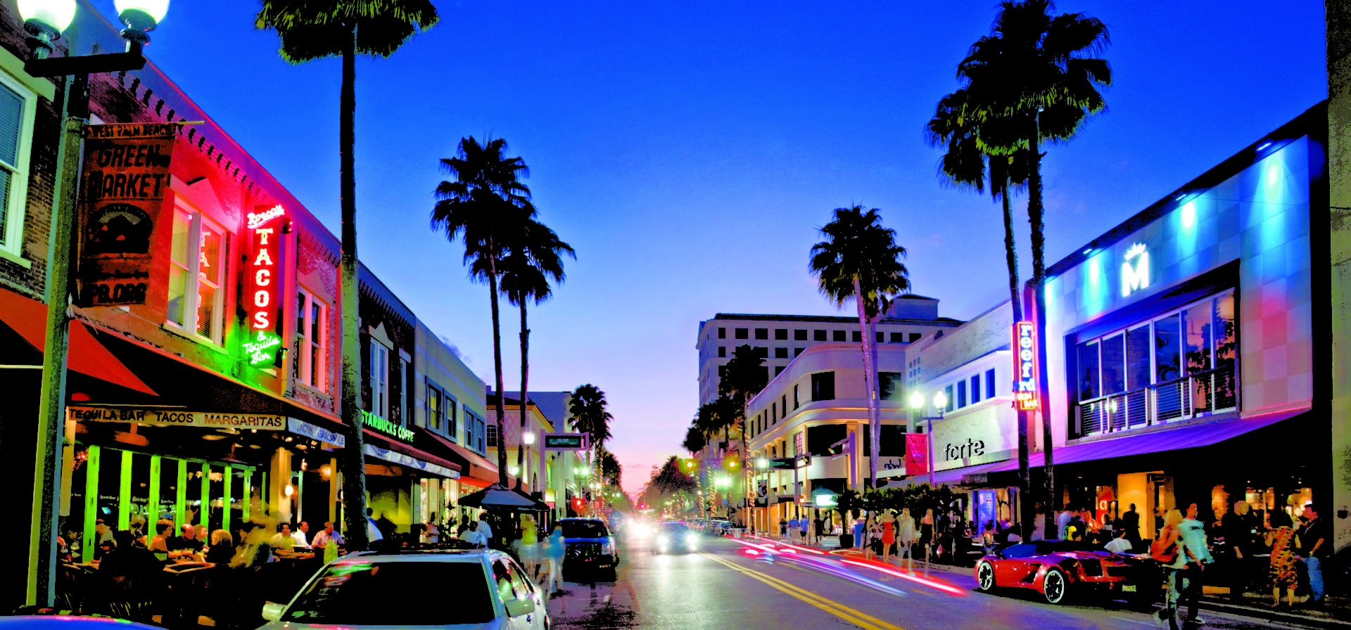 image of down town palm beach fl