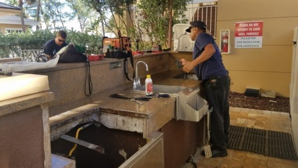 OUTDOOR KITCHENS and grill cleaning