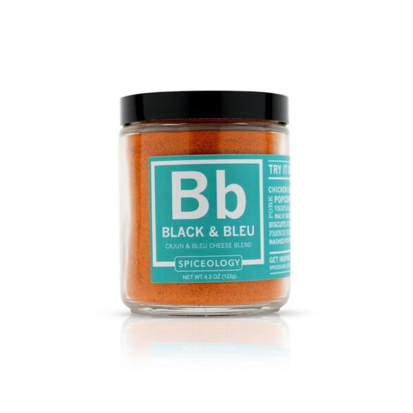 spiceology-black-bleu-rub-glass-jar-glass-jars-43-oz brought to you by Palm Beach Grill Center