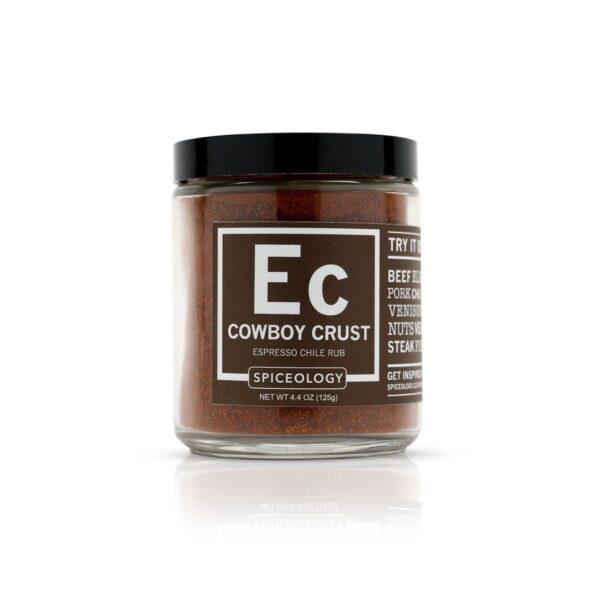 spiceology-cowboy-crust-espresso-chile-rub-glass-jar-glass-jars-44-oz-brought to you by Palm Beach Grill Center